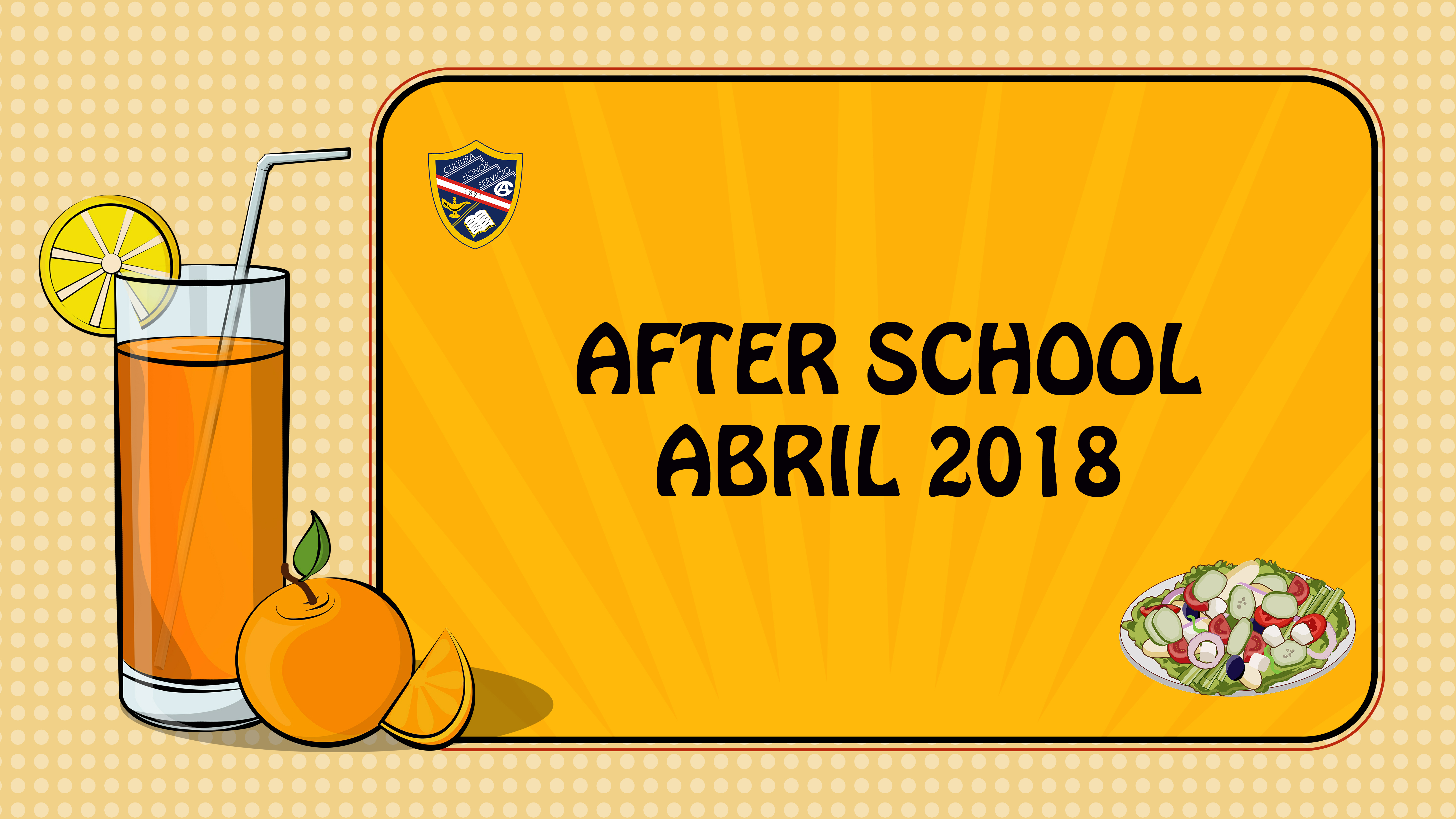 AFTER SCHOOL- ABRIL 2018